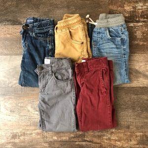 Lot of five boy's 4T pants